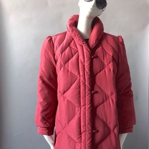 1980s Nylon Quilted Puffer Maxi Coat sz M 8 10 12